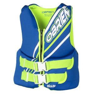 Спасательный жилет неопреновый O'Brien детский Youth Neo Blue/Green S19